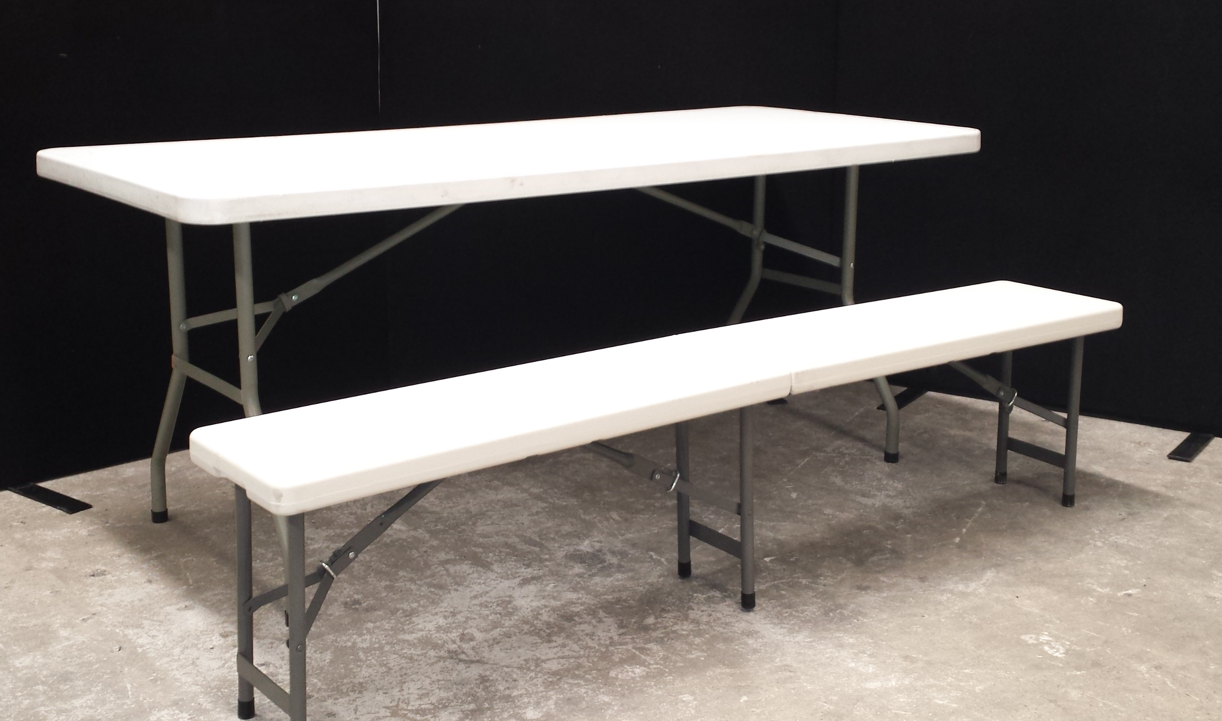 1 8m Portable Bench Seat Folding Tables And Chairs