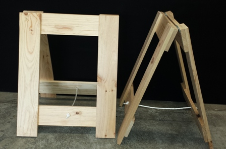A Frame Old Style Trestle Legs Folding Tables And Chairs