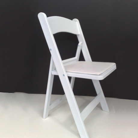 Marvelous White American Folding Chair