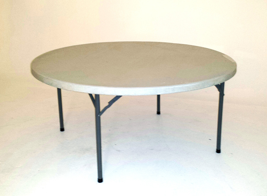 1 2m Heavy Duty Plastic Moulded Round Table FOLDING TABLES AND CHAIRS