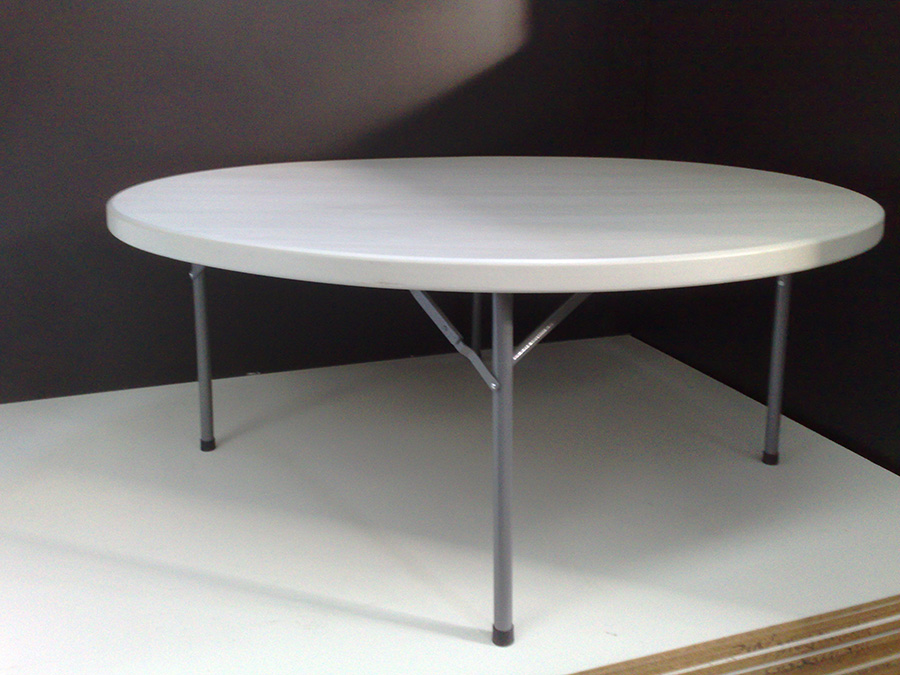 1.8m Heavy Duty Plastic Moulded Round Table