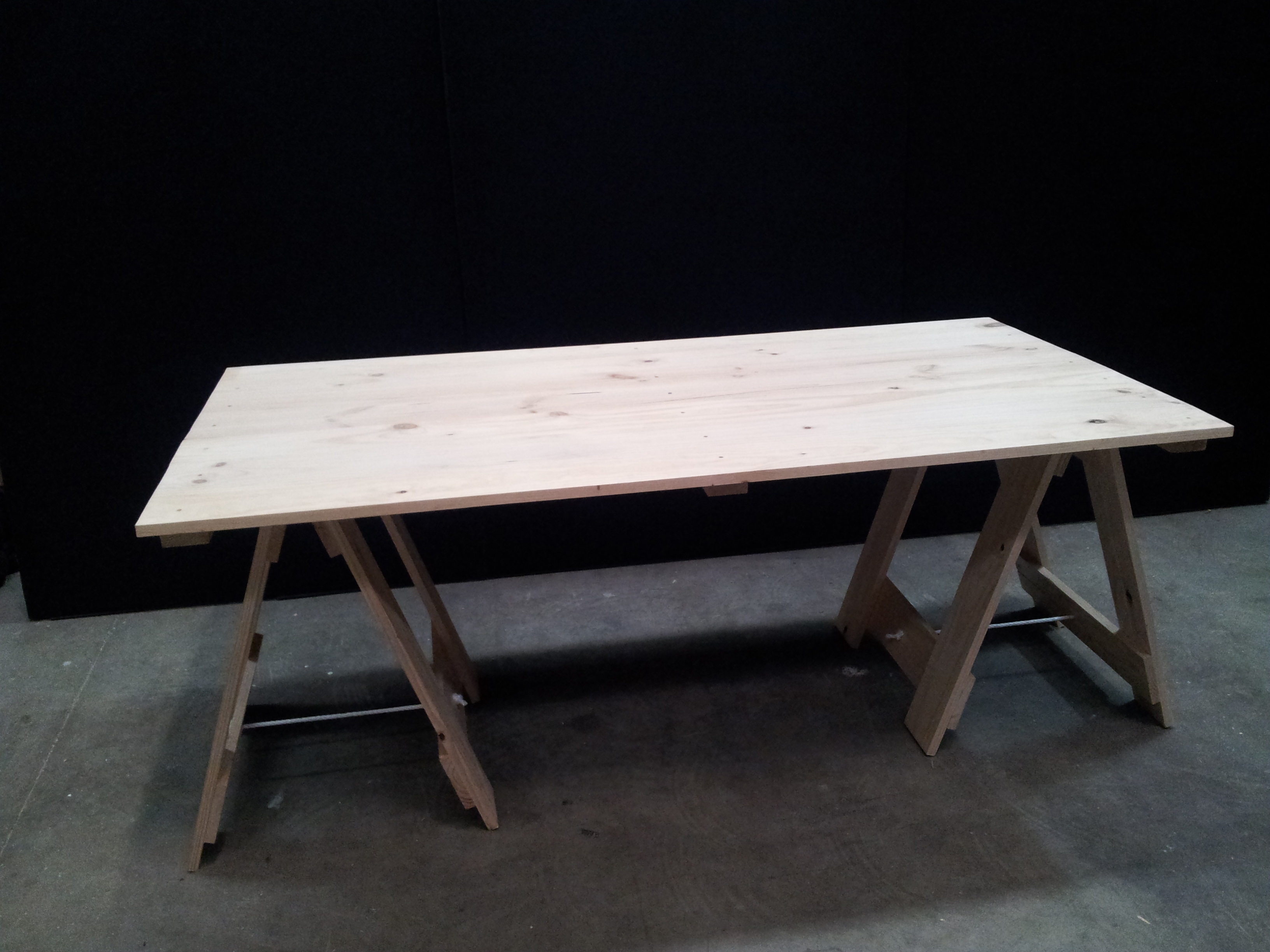 1 8m Old Style Trestle Table Folding Tables And Chairs